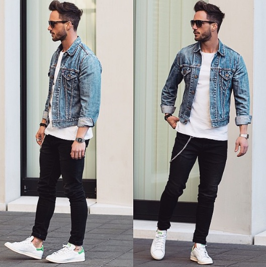 how to wear denim jacket men