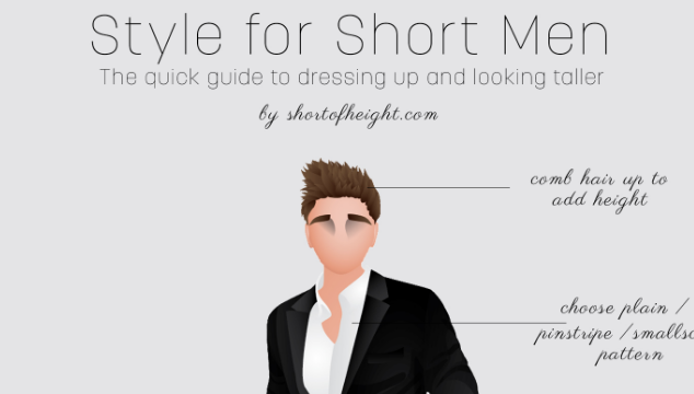 Style Tips for Short Men Infographic